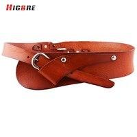 2016 New Designer Women Genuine Leather Belt Pin Buckle Stretch Cummerbund Retro Elastic Waistband Wide Belt