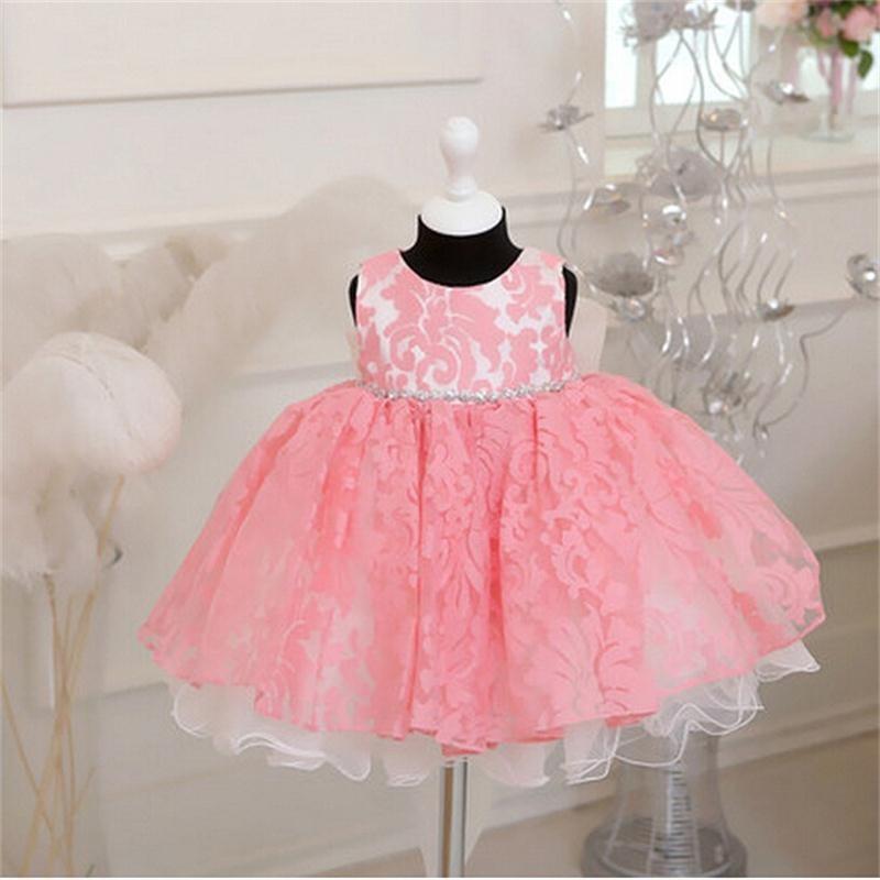 Newborn Bow Dress Baby Girl (1)