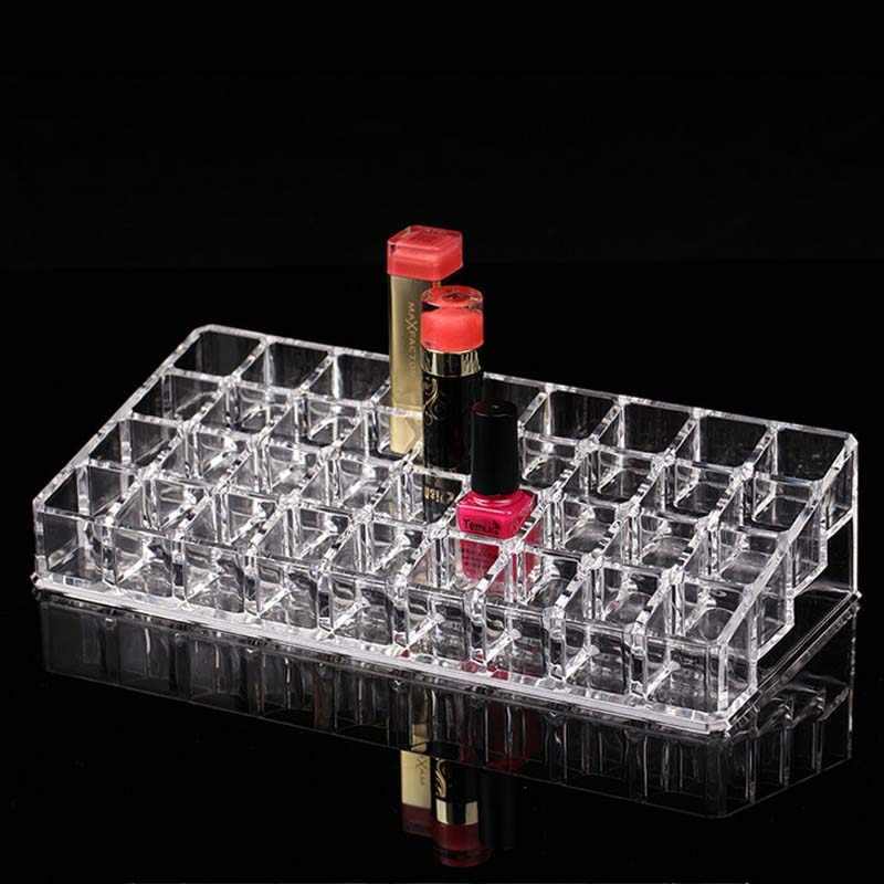 New Fashion 36 Grids Acrylic Lipstick Holder Cosmetic Storage Box Makeup Organizer Sundries Display Box Free Shipping