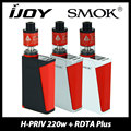 Genuine 220w Smok H-PRIV TC MOD& IJOY Limitless RDTA Plus Atomizer 6.3ml Capacity vs Smoktech Hpriv Box Mod 220W Huge Vaping Kit