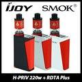 Genuino 220 w TC H-PRIV Smok MOD y IJOY Ilimitadas RDTA Atomizador Más 6.3 ml Capacidad vs Hpriv Smoktech Mod Cuadro 220 W Enorme Vaping Kit