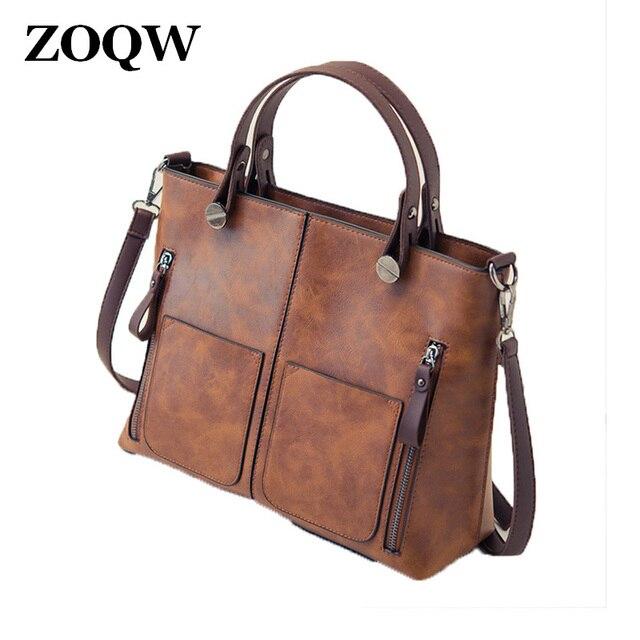 d903224171ad New Vintage Brown Women Handbags Black PU Leather Bags For Women Bag Grey Crossbody  Bags For Women Handbag Shoulder Bags WUJ1062