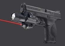 500 Lumens Ultra Bright Military Torch Light LED Pistol Hand Gun Tactical Flashlight Red Laser Sight