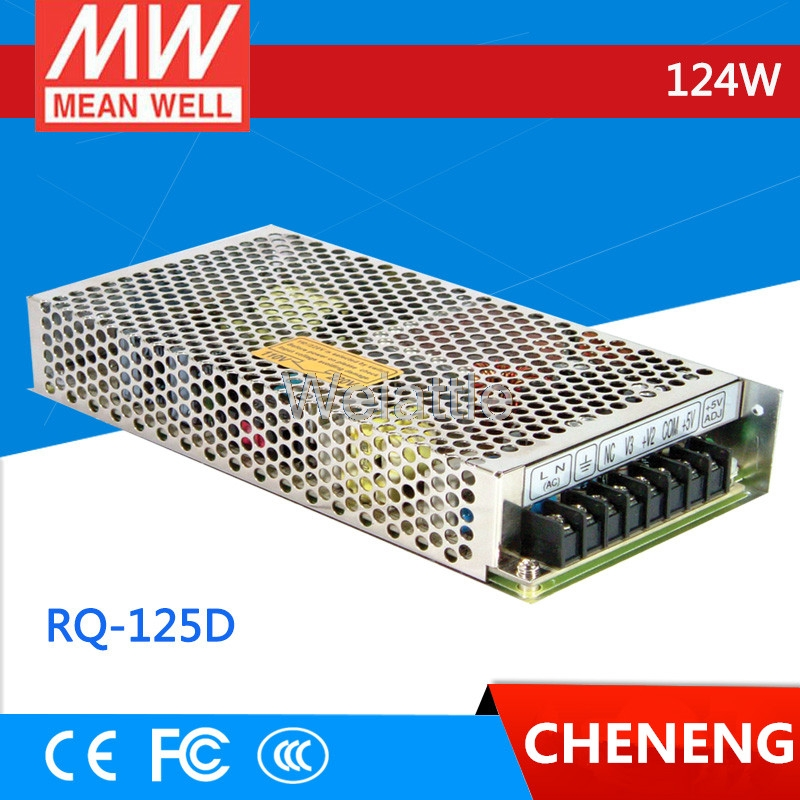 MEAN WELL original RQ-125D meanwell RQ-125 124W Quad Output Switching Power SupplyMEAN WELL original RQ-125D meanwell RQ-125 124W Quad Output Switching Power Supply