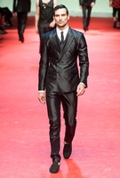 Latest Coat Pant Designs Black Satin Double Breasted Groom Tuxedos Fashion Mens Wedding Suits Bridegroom Wear