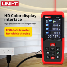 UNI T לייזר מרחק מטר USB 100m 50m 70m מד טווח UT395A UT395B UT395C Trena לייזר Profissional קלטת למדוד דיגיטלי
