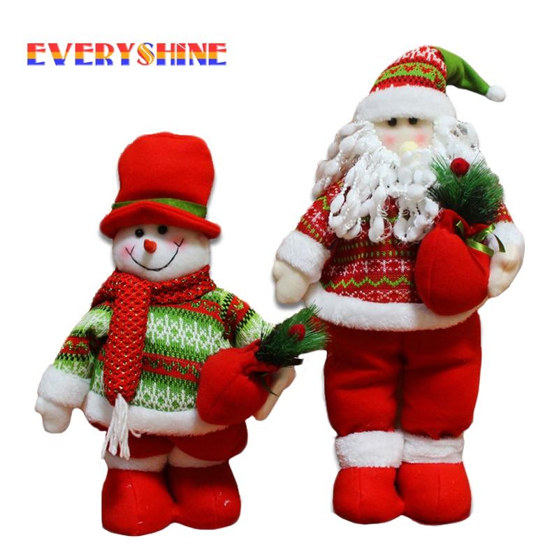 Stretchable Santa Claus Snowman Doll Christmas Decorations