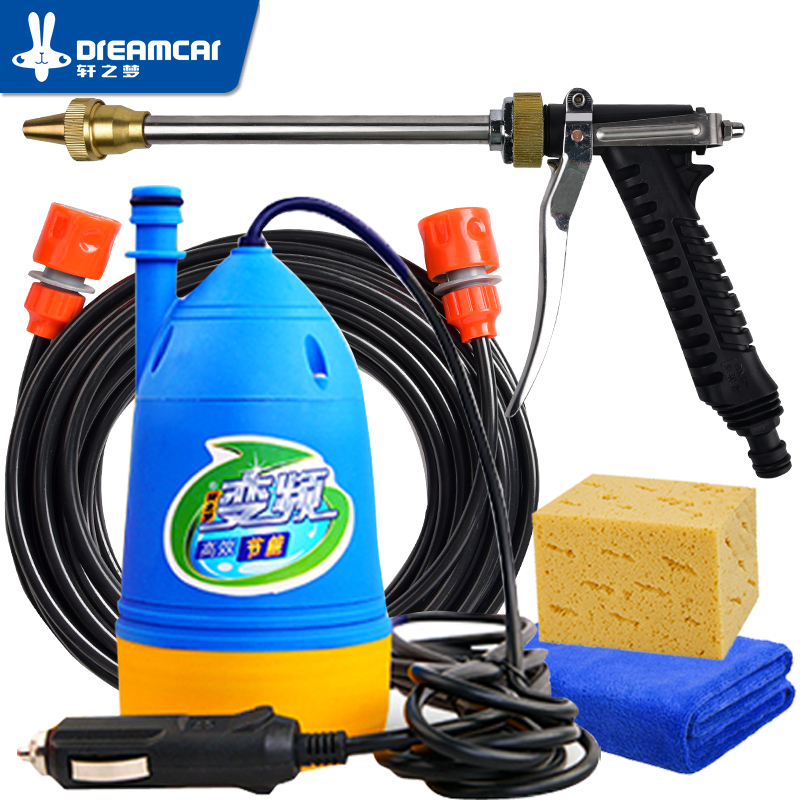 High Pressure Car Washer 12v pressure washing gun device washing machine 12v portable  cleaning machine car washer water gun(China)