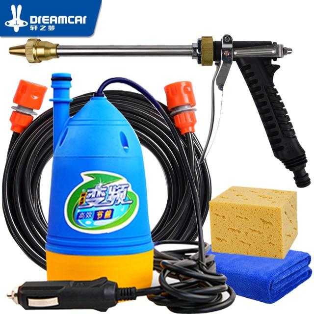 ارتفاع ضغط آلة غسل سيارات 12 فولت ضغط مسدس الغسيل جهاز غسالة 12 فولت المحمولة آلة تنظيف آلة غسل سيارات مدفع المياه