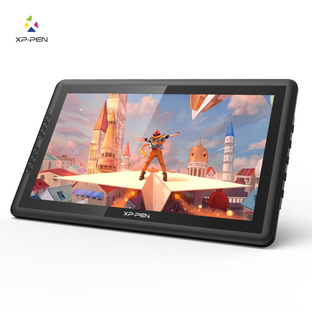 Xp-caneta artist16pro desenho tablet monitor gráfico digital tablet eletrônico com chaves expressas e suporte ajustável