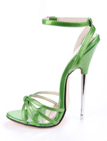US4 13 Womens Sexy 16cm Metal Heel Stilettos Cross Strappy Sandals Shoes Super High Peep Toe Slingbacks Plus Size Rome