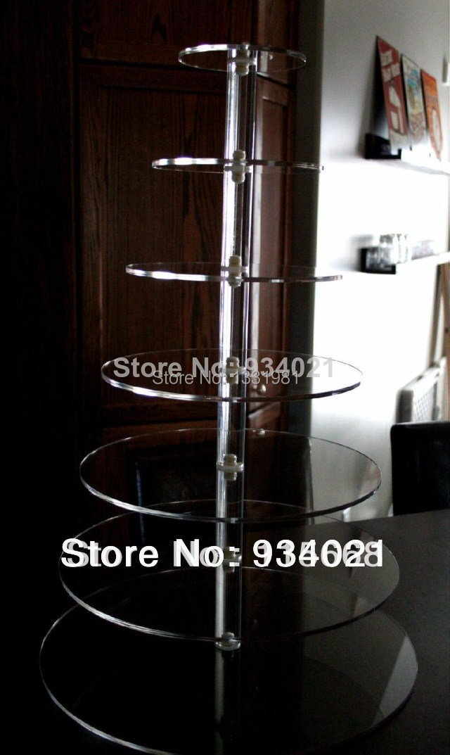 Hot shopping free selling/7 Tier Maypole Acrylic Cupcake Stand Cup Cake Tower TreeHot shopping free selling/7 Tier Maypole Acrylic Cupcake Stand Cup Cake Tower Tree