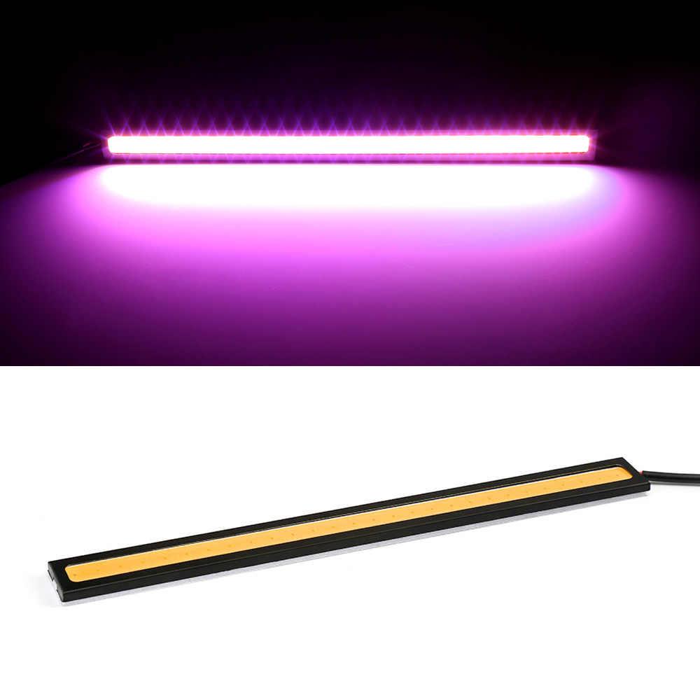 1 piece 17cm 100% Waterproof Ultra-thin COB Chip LED Daytime Running Light LED DIY DRL Car Fog Lights Day Running for Auto CJ