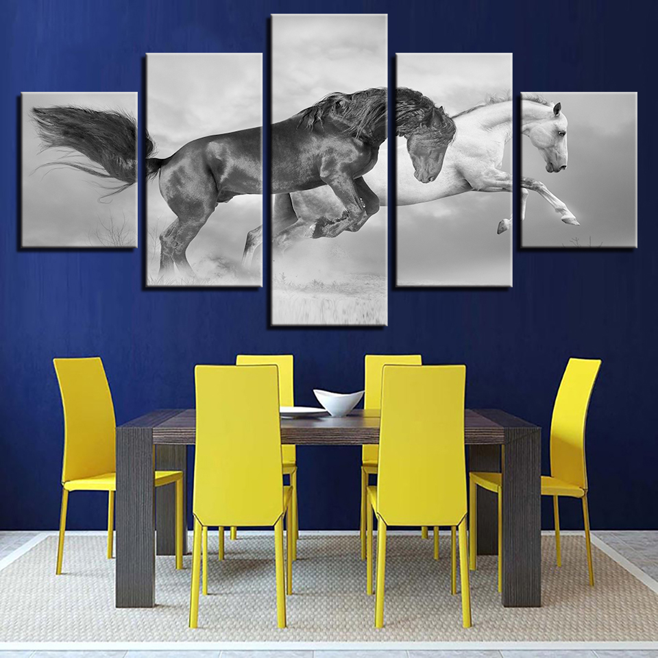 5 Pieces HD Prints Canvas Pictures Home Decor Framework