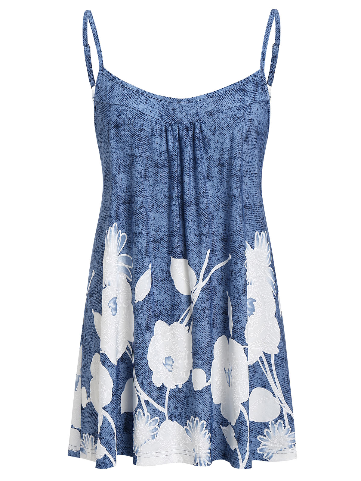 Wipalo Women Plus Size Spaghetti Strap Floral Print Camis Tops Spaghetti Strap Casual Summer Camis Top Big Size 5XL Ladies Tops