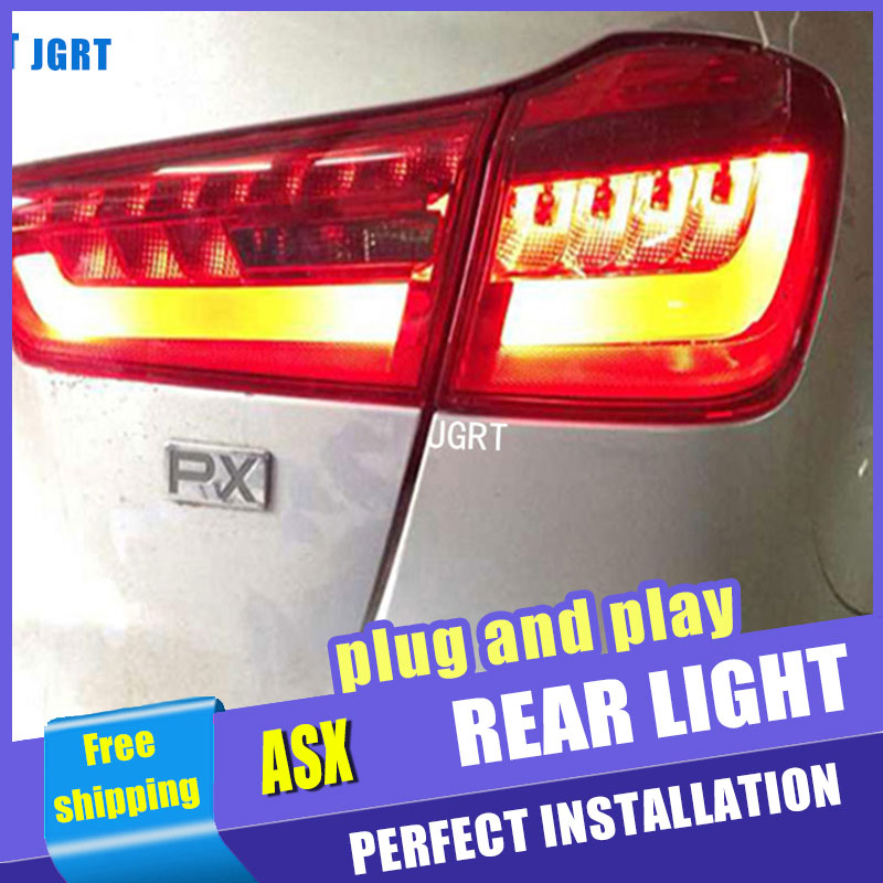 Car Styling for Mitsubishi ASX Taillight assembly New ASX LED Tail Light Outlander EX LED Rear Lamp DRL+Brake with hid kit 2pcs. oem 8330a396 rear tail light outer brake stop lamp right rh left lh for mitsubishi outlander ex 07 13 car accessories