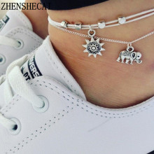 vintage Boho multi layer anklets for women fashion sun elephant pendant anklet Cotton handmade chain foot party jewelry ns51-in Anklets from Jewelry & Accessories on Aliexpress.com | Alibaba Group