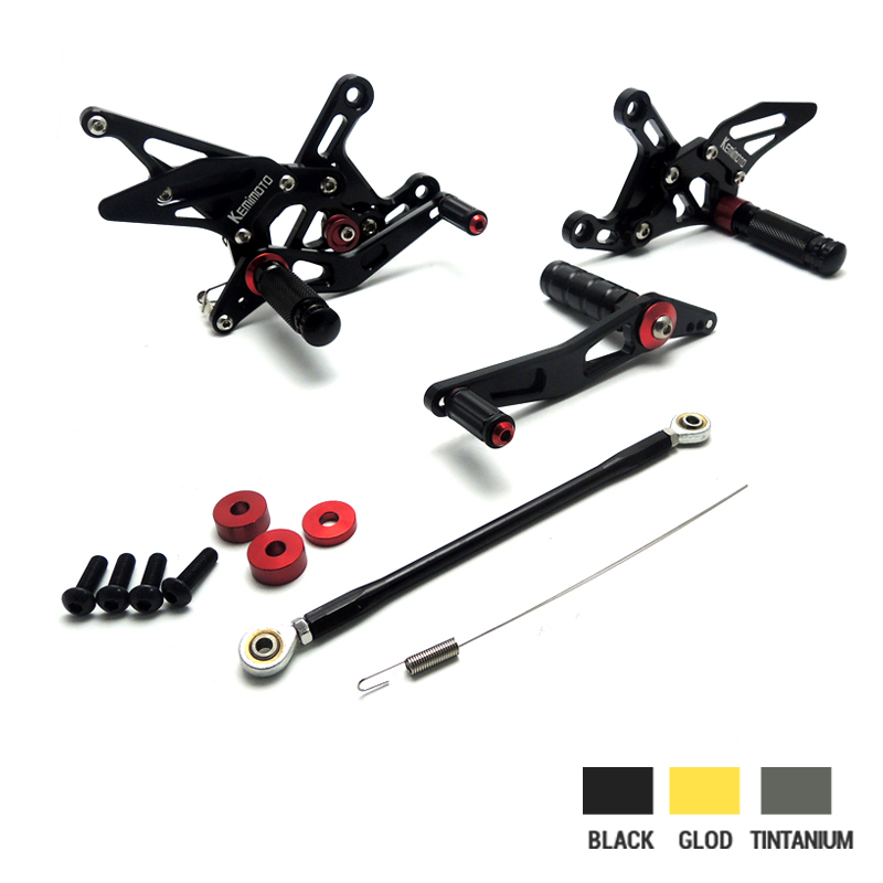 CNC Rearsets For Yamaha YZF-R1 2009 2010 2011 2012 2013 2014 YZF R1 Full set of Adjustable Rear Set Foot pegs Footrest morais r the hundred foot journey