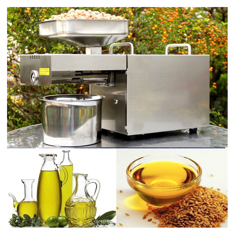 Livraison gratuite nouvelle automatique en acier inoxydable petite maison presse à huile Machine froide presse à chaud pour cacahuète, noix de coco