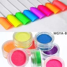 8Colors Neon Pigment Powder Ombre Pigments Gradient Nail Dust DIY Acrylic