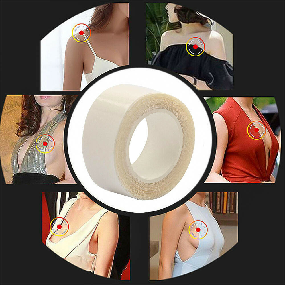 3/5/9 Meters Double Sided Adhesive Safe Body Tape Clothing Clear Lingerie Bra Strip Medical Waterproof Tape