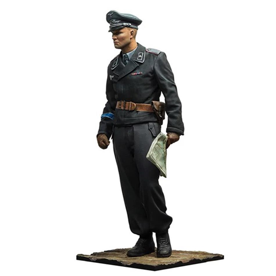 Unpainted 1:35/scale Resin Figure With Resinman World War Ii German Tank Officer Szr-10005 Need To Assemble Big Clearance Sale