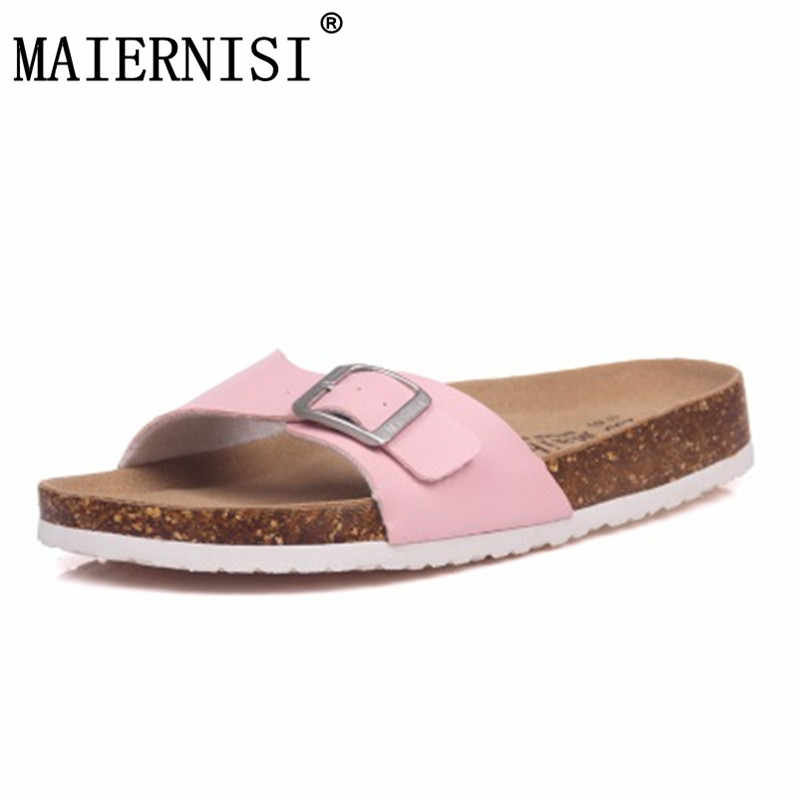 211a09607ee Women Sandals Cork Shoes Girls Slippers Summer Sandals Flip Flops Zapatos  Mujer Sandalias Femininas Mix Color