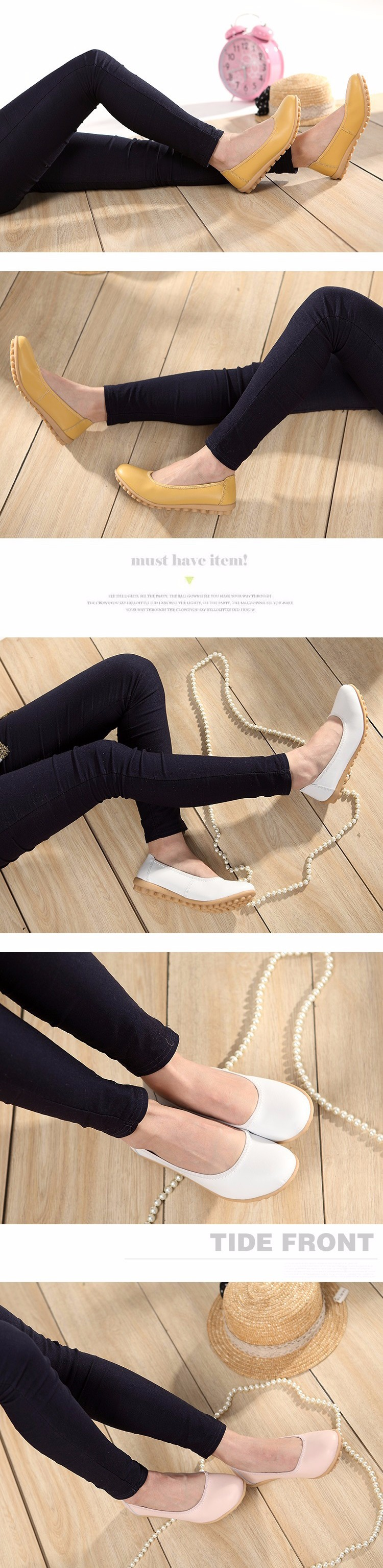 New 2016 Women Leather Shoes Slip-on Ballet Women Flat Comfort Shoes Woman Chaussure Homme Women Loafers BT94 (6)