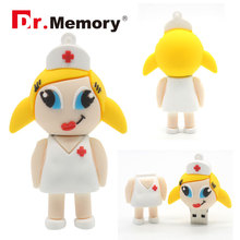 Nurse USB Flash Drive 2.0 Pendrive 4G 8GB 16GB 32GB Memory Card USB Stick 4 GB