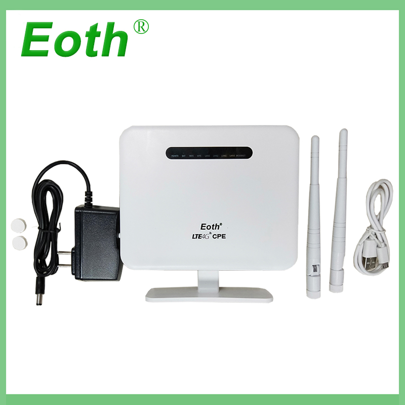 2pcs Eoth 4G LTE CPE Mobile Router 4G Wifi Routers modular designing FDD-LTE 300Mbps TDD-LTE WCDMA EVDO&CDMA GSM