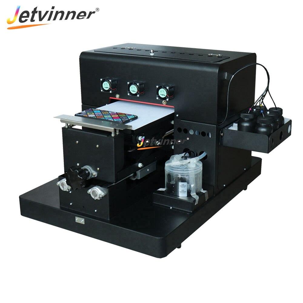 Jetvinner 3 pièces A4 taille imprimante UV jet d'encre à plat Machine d'impression avec effet gaufré pour coque de téléphone, cuir, ABS, TPU, bois, verre