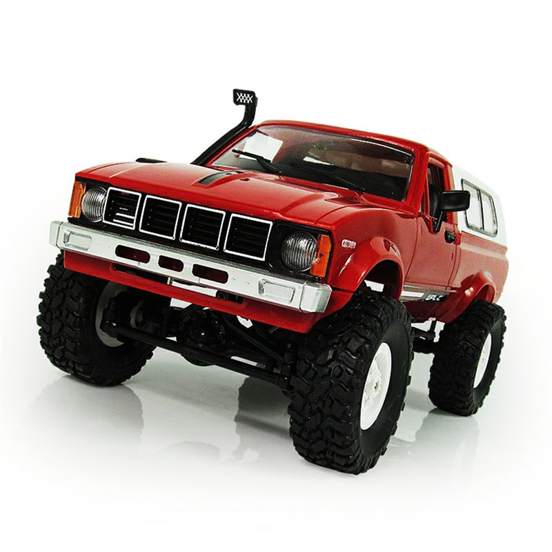 WPL C-24 1/16 Scale RC Car Rock Crawler 4WD Off-road Military Truck Best Toy Red 2.4G 4 Channel WPL C-24 1/16 Scale RC Car Rock Crawler 4WD Off-road Military Truck Best Toy Red 2.4G 4 Channel
