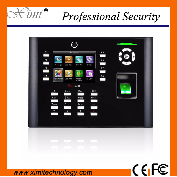 8000 fingerprint users TCP/IP webserver access control system Iclock680/ IC card reader biometric fingerprint time attendance