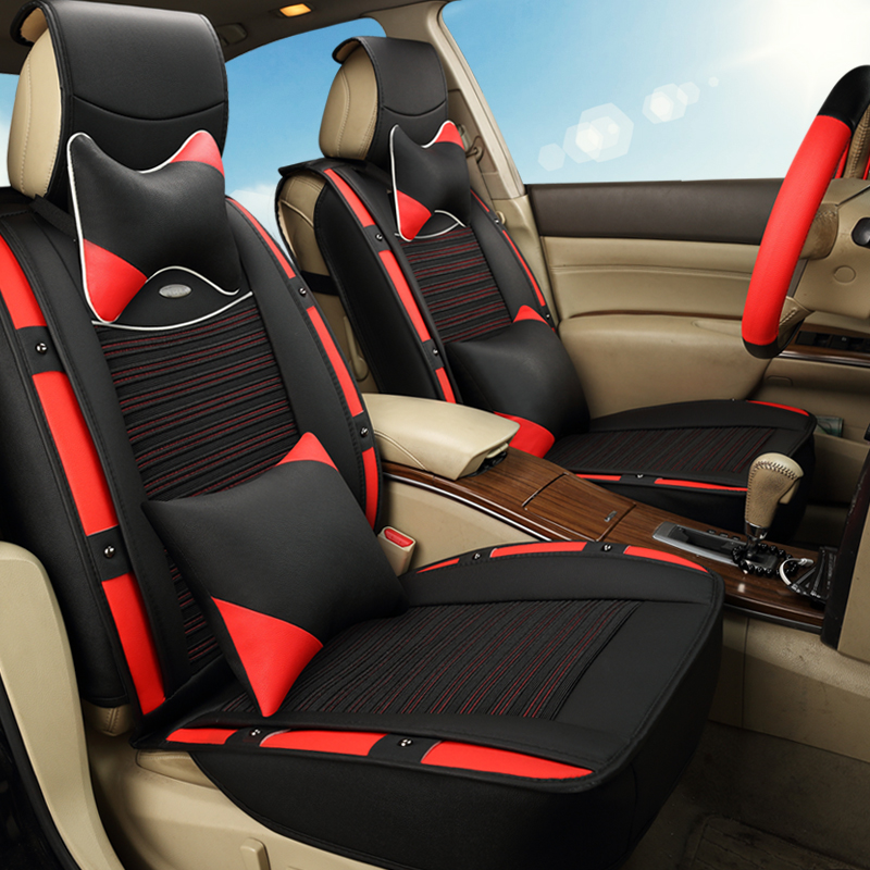 Shop3124012 Store 3D Sports Car Seat Cover Cushion Ice Silk For Acura ZDX MDX ILX TLX 3D car-styling,High-fiber Leather,