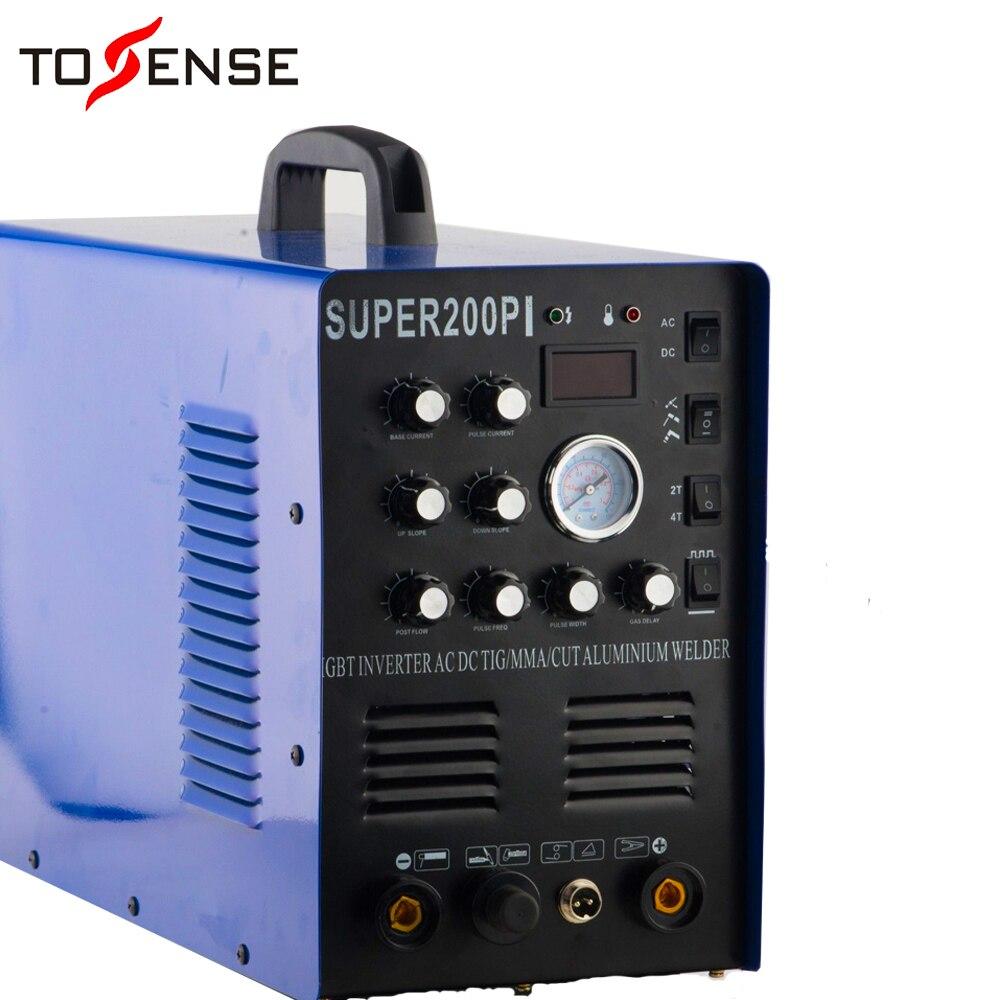 7 in 1 Multi-funktion TIG/MMA/CUT Super200pi Schweißer Maschine, Plasma Cutter 220v