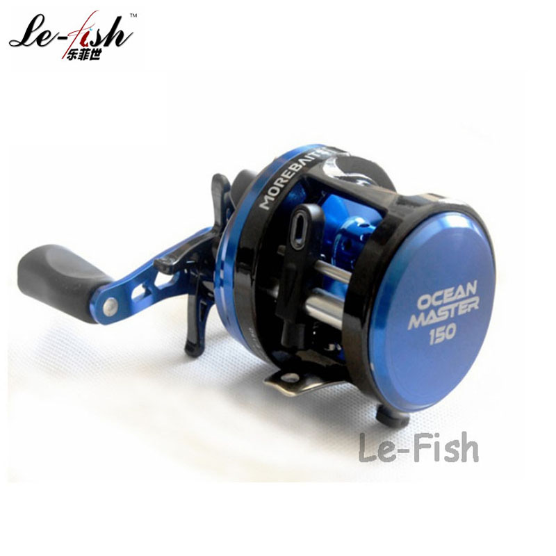 ФОТО 7+1 Bearings Hot Sale Drum Wheel Bait Casting Fishing Reel Aluminium Alloy 5.0:1 For Boat Jigging Ocean Fish Free Shipping