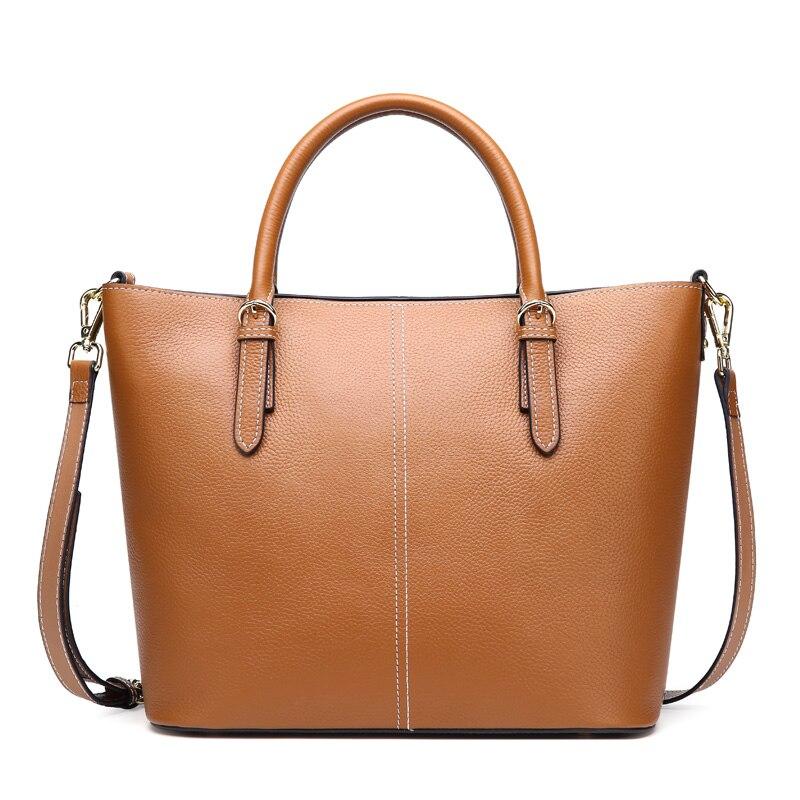 2019 New Genuine Leather Womens Bag Bucket Cowhide Casual Shoulder Crossbody Bag2019 New Genuine Leather Womens Bag Bucket Cowhide Casual Shoulder Crossbody Bag