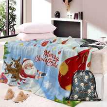 Vintage Christmas Soft Fleece Throw Blanket Soft Flannel Blanket to on for the sofa/Bed/Car Portable Plaids christmas snowscape moon flannel throw blanket
