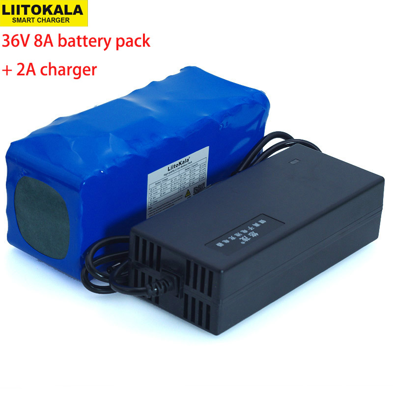 36V 8Ah 10S4P 500w 18650 Rechargeable battery pack ,modified Bicycles,electric vehicle 36V Protection with BMS+ 42v 2A Charger-in Battery Packs from Consumer Electronics
