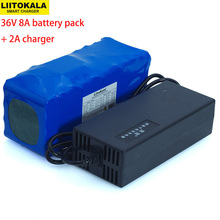36V 8Ah 10S4P 500w 18650 Rechargeable battery pack ,modified Bicycles,electric vehicle 36V Protection with BMS+ 42v 2A Charger liitokala 36v 6ah 8ah 10 500w 18650 lithium battery 36v 8ah electric bike battery with pvc case for electric bicycle
