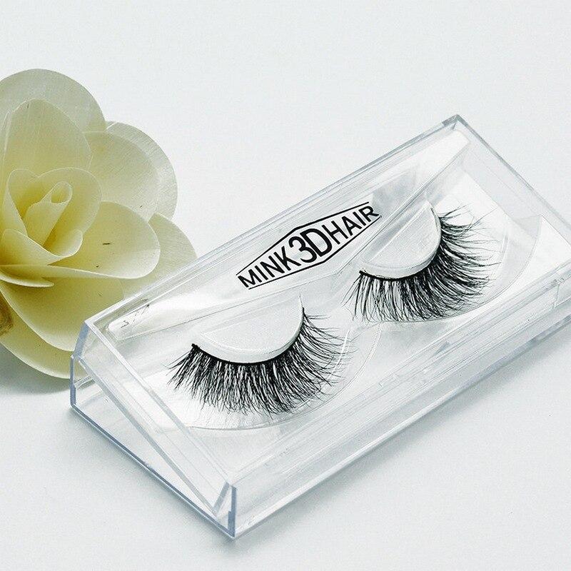3D mink ขนตาขนตาจริงขนมิงค์แฮนด์เมดข้ามแต่ละแถบหนาธรรมชาติขนตาปลอมสำหรับความงามแต่งหน้าปลอม A12-ใน ขนตาปลอม จาก ความงามและสุขภาพ บน   2