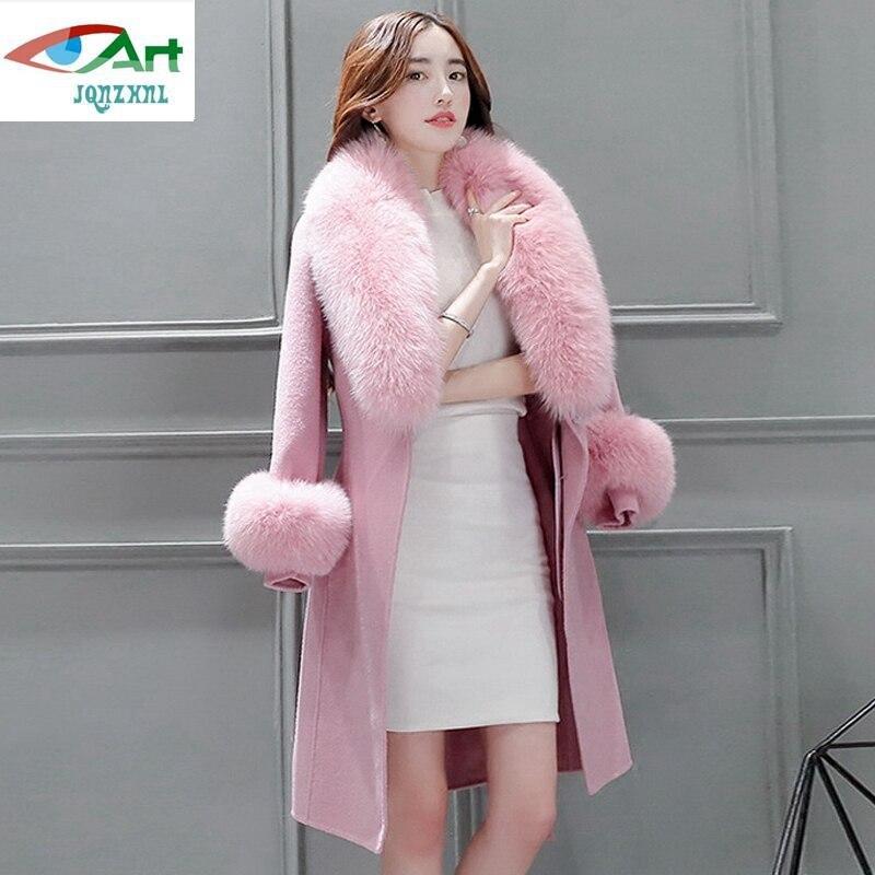 Collar Delgado Piel 2018 Mezclas Pink Abrigos Mujeres Nuevas Medio Del Lana camel E706 Largo Grande La Invierno De Chaquetas Espesan Jqnzhnl 1wxBqgEZn