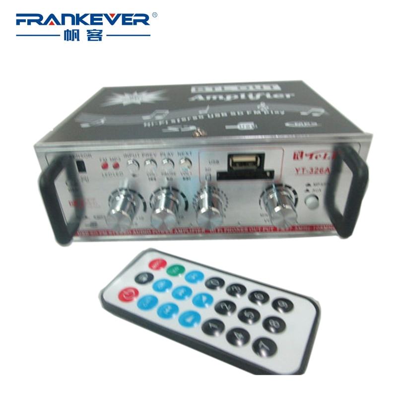 Автомобильный Домашнее аудио звук Усилители домашние 2.1 Одежда высшего качества DC12V AC220V 60 Вт Hi Fi Щепка sd/usb вход Радио сабвуфер бесплатная доставка yt-326a