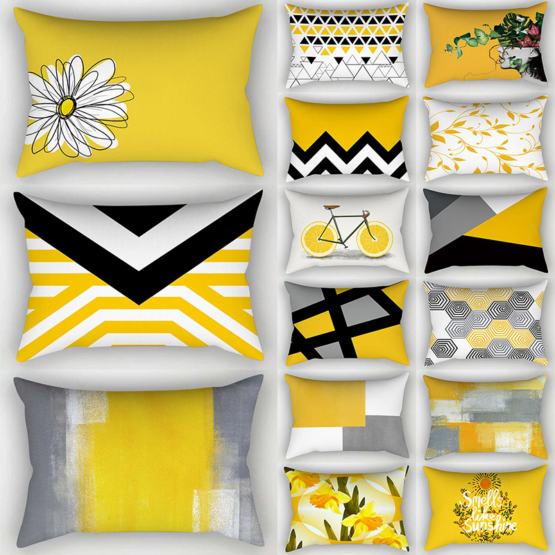 Pineapple Yellow Leaf Home Comfortable Soft 30*50cm Hot Sale High Quality Pillow Cover Pillow Case 1PC Popular