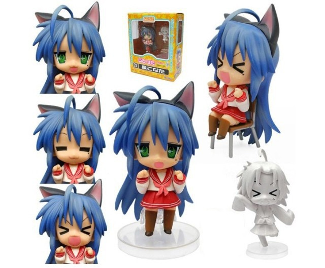 Free Shipping Cute 4 Nendoroid Luck Star Izumi Konata PVC Action Figure Set Model Collection Toy #27 MNFG032 free shipping cute 4 nendoroid luck star izumi konata pvc action figure set model collection toy 27 mnfg032