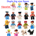 Wholesale 10pcs/lot duplo big size characters building block parts toys collection gift baby toy small figure doll block