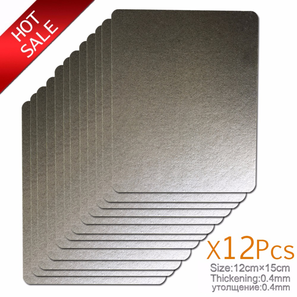 12pcs 12*15cm mica Plates Spare parts thickening microwave ovens sheets for Galanz Midea Panasonic LG etc.. magnetron cap