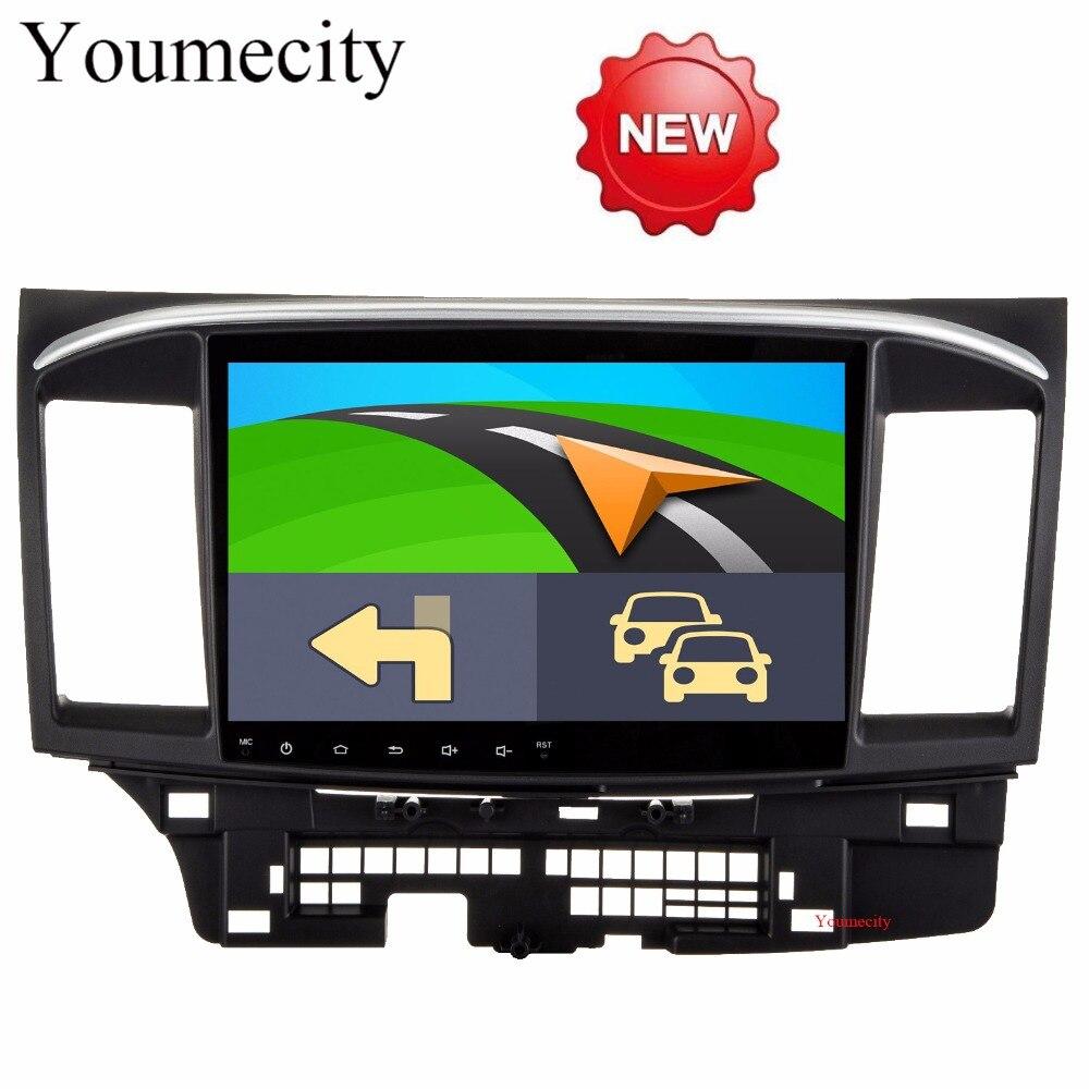 Youmecity Android 8,1 автомобильный DVD для MITSUBISHI LANCER 10,1 дюймов 2 DIN 3g/4 г gps радио видео плеер С емкостный 2008-2015 9 x