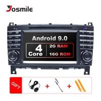 2 Din Car Radio GPS Android 9.0 Car DVD Player For Mercedes BenzC Classs CLC W203 CLK W209 2004 2007 C200 C230 C220 C320 C350 4G