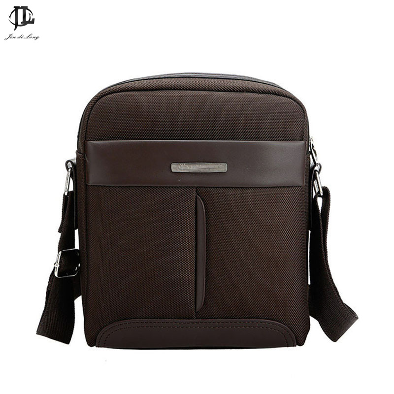 New High Density Nylon&Pu Leather Mens Small Messenger Bag Crossbody Shoulder Sling Bag Business Travel Zipper Bag for men